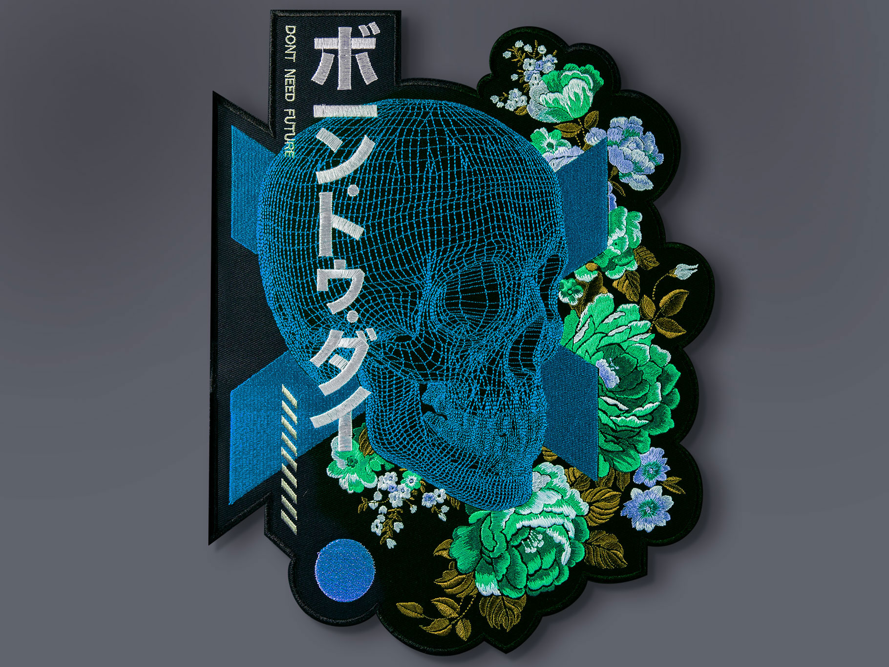 blue_skull_flowers_graphicine